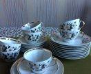 Набор чайных чашек 7 шт+10 тарелок Рига
