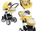 Детская коляска DPG Glamour Yellow Гламур 3 в 1