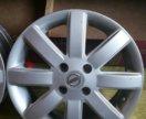 Литые диски Nissan, оригинал, 15r 3 шт.