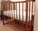 Кроватка, матрас, постельное белье