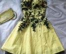 Женственное коктейльное платье.