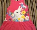 Фирменный яркий сарафан платье H&M 2-4 года