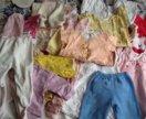 Вещи на девочку от 0 до года 5пакетов