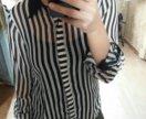 Рубашка блузка в полоску полосатая