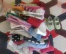 Большой пакет вещей на девочку 2-3 лет
