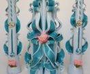 эксклюзивный комплект резных свечей на свадьбу