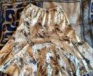 Лёгкая атласная юбка