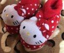 Мягкие тапочки hello kitty