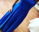 Стильное платье из королевского атласа