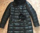 Кожаное пальто с мехом норки