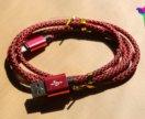 Плетённый кабель на iPhone