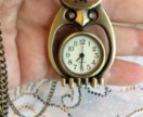 Кулон-часы Сова
