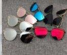 Очки Dior (золотые с розовыми стёклами)