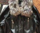 Куртка из ЭКО-кожи,  мех натуральный