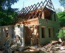 Расчистка участка,слом построек.Опил деревьев.