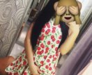 Платье сарафан с вишней хит лета