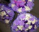 Новые букет цветов с плюшивыми медвежатами