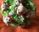 Букет плюшевые мишки