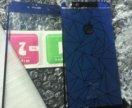 Синее Стекло на айфон 6plus