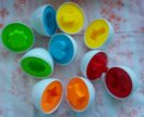 Развивающие игрушки яйца (найди пару)