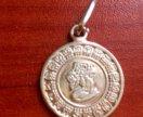 Серебряный кулон монета мексика