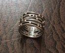 Серебряное кольцо на мизинец