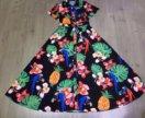 Платье тропический принт!