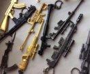 Брелки макеты оружия