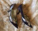 Туфли из натуральной замши и кожи на 38 размер