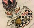 Босоножки Versace и сумка Versace
