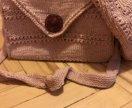 Вязаные берет и сумка. Ручная работа