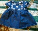 Джинсовое лёгкое платье