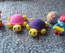 игрушки из Kinder сюрприз, попрыгунчик, ластик