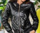 Куртка стеганая эко-кожа