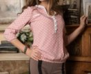 Свободная блузка без воротника