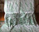 Штора зелёная, полотно 2 шт.