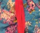 Волосы на капсулах новые розовые 55 см