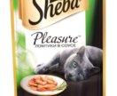 Sheba pleasure курица и индейка