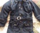 Пальто джинсовое девочке