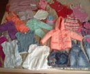 Одежда для девочки пакетом 74-86р, обувь