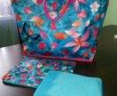 Новая пляжная сумка и 2 косметички