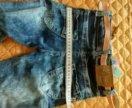Новые джинсы на девочку, легкие, летние