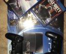 Продам PS4 +2 Дж + 4 игры