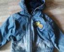 Курточка джинсовая  утепленная 98 рост