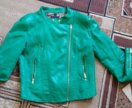 Куртка зеленая кожанка срочно