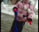 Красивый и тёплый, зимний костюм на девочку (92)
