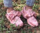 Кроссовки FentyPUMA BY RIHANNA атласные с бантиком