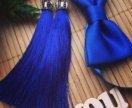 Серьги-кисточки и галстук-бабочка