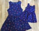 Комплект платья мама и дочь