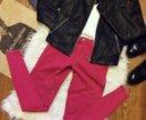 Новые малиновые брюки